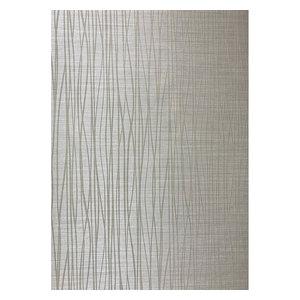 Flocked gray off white Wallpaper Textured Flocking Velvet Wave Lines, 27 Inc X 3