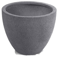 Helmet Pot, Gray Sandstone, 16""