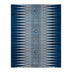 Safavieh Evoke Collection EVK226 Rug, Royal/Ivory, 8'x10'