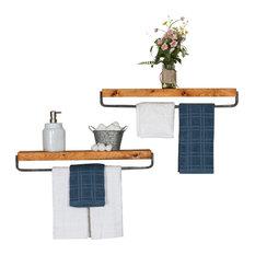 True Floating Shelf Towel Holders, Set of 2