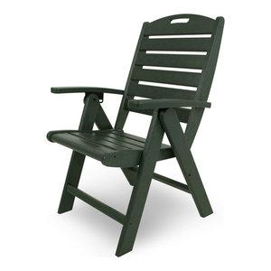 Yacht Club Highback Chair, Rainforest Canopy Trex Outdoor Furniture