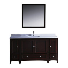 "60"" Single Sink Bathroom Vanity, Mahogany, FFT1030BN"