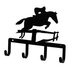 Wrought Iron Horse & Jockey Key Holder Key Hooks