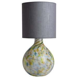 Balloon Multicoloured Glass Table Lamp, Grey