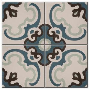 Toulon Pattern Tiles, Set of 12