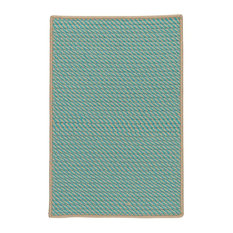 Colonial Mills Point Prim IM03 Area Rug, Teal, 12'x15' Rectangular