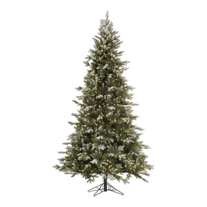 Frosted Balsam Fir Tree, 6.5', Warm White LED Lights