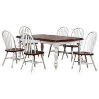 Andrews 7-Piece Extension Dining Set With Arrowback Chairs