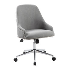 Boss Office Products   Boss Office Products Carnegie Desk Chair, Gray   Office  Chairs