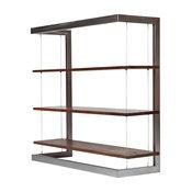 Suspended Bookshelf - Large Bamboo Plywood