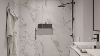 Modern Style Shower Renovation by UpHome