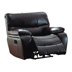 HomeleganceLA, Inc - Homelegance Pecos Glider Reclining Chair in Brown Leather Gel Match - Recliner Chairs