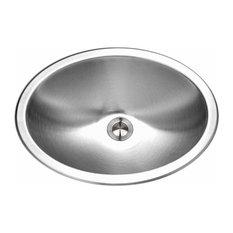 "Houzer CHT-1800 Medallion 17-1/2"" Single Basin Drop In 18-Gauge Stainless Steel"