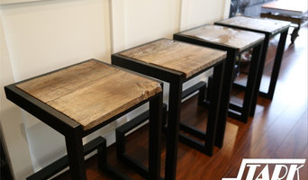 EZD-FB Stools - Reclaimed wood and steel