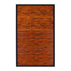 Anji Mountain 6'x9' Cobblestone Mahogany Bamboo Rectangular Rug