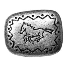 Southwest Running Horse Knob, Pewter