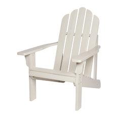 Shine Company Marina II Adirondack Chair With Hydro-Tex Finish, Eggshell White