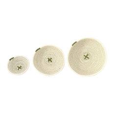 Cotton Rope Bowls, Sage Green, Set of 3