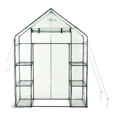 oGrow Deluxe Walk-In 3-Tier 6-Shelf Portable Greenhouse
