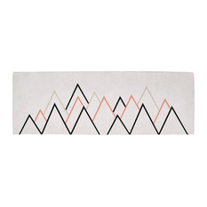 """Lilipinso """"Mountains"""" Cotton Rug, Coral, 70x200 cm"""