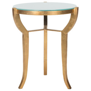 Safavieh Shaw Accent Table, Gold and White