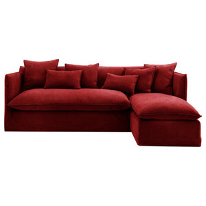 Sophie Chaise Sofa Bed, Vermillion, 2.5 Seater, Right Hand Facing, 133x186 cm
