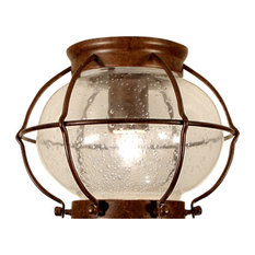 Maine C1 Steel and Seeded Glass Ceiling Light