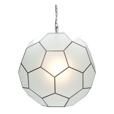 Frosted Glass Knox Pendant, Small