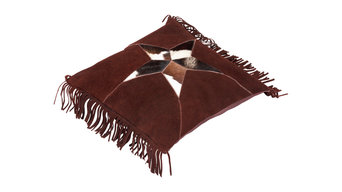 Brown Suede Scatter Cushion