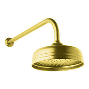 Perrin and Rowe 8-in Single Function Shower Head in Inca Brass