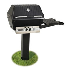 Broilmaster Natural Gas Grill & In-Ground Post Package with Electronic Ignition