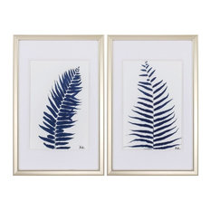 Indigo Ferns, Set of 2