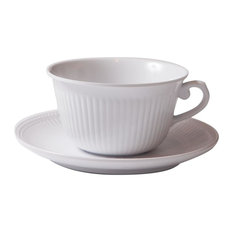 Faithful Coffee Cup With Saucer, White