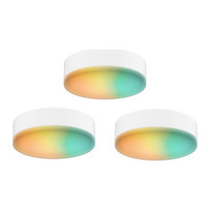 DALS Lighting Smart RGB-CCT Under Cabinet Puck Kit, 3-Pack