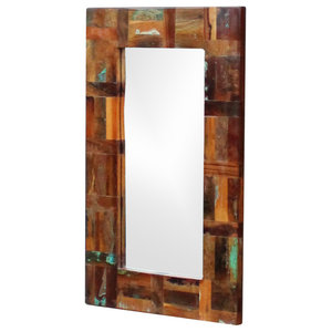 vidaXL Solid Reclaimed Wood Mirror, 80x50 cm