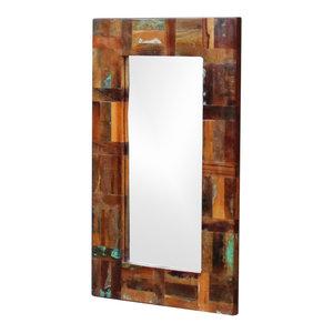 vidaXL Solid Reclaimed Wood Mirror, 80x50 cm