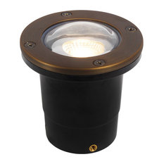 12V Composite Ground Well Light With Open Face Cover, Bronze