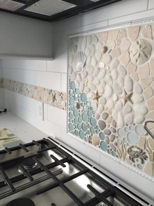 Custom Matching Kitchen Mosaic Backsplash & Border