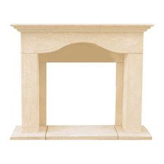 Chateau Series Marissa Cast Stone Fireplace Mantel