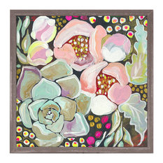 """Succulent Florals"" Mini Framed Canvas by Shelly Kennedy"