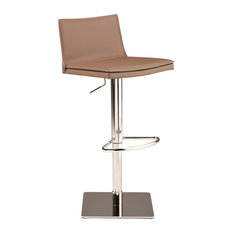 Palma Adjustable Bar Stool Modern Counter Stool Leather Bar Stool Mink Tan