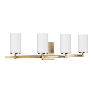 Sea Gull Lighting 4-Light Wall/Bath, Satin Bronze