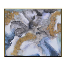"""Ren Wil OL1297 Winter Storm 61 1/2"""" x 51 5/8"""" Framed Abstract Painting on Canva"""
