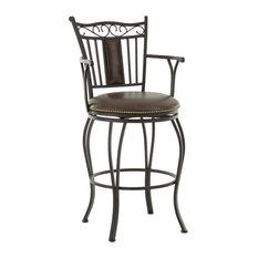 Barbara Jumbo Swivel Bar Chair With Armrest