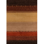Momeni - Desert Gabbeh Hand-Tufted Rug, Multi, 8'x11' - Made in the tradition of Gabbehs from the foothills of Iran, our Desert Gabbeh collection is hand-knotted in India of 100% wool, but given a modern twist with its warm color palette and designs.