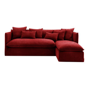 Sophie Chaise Sofa Bed, Vermillion, 1.5 Seater, Right Hand Facing, 113x186 cm