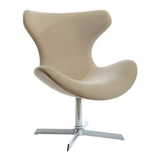 Modrest Aludra Modern Fabric Lounge Chair Beige