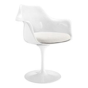 Poly and Bark Daisy Arm Chair, White