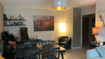 Décoration et rénovation d'une maison avec espace home office