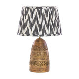 Bangoli Carved Wooden Table Lamp